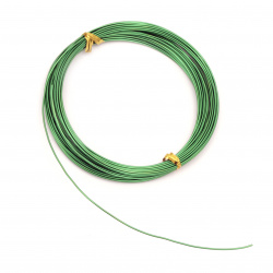 Aluminum wire 1 mm green - 10 meters