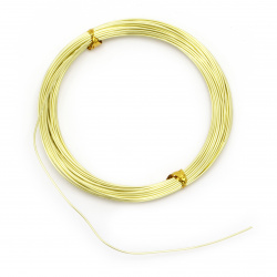 Aluminum wire 1 mm yellow yellow -10 meters