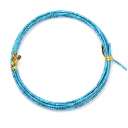 Aluminum wire 2 mm cut color blue ~ 2 meters