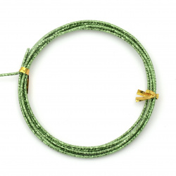 Aluminum wire 2 mm cut green ~ 2 meters