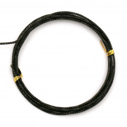 Aluminum wire 2 mm cut color black ~ 2 meters