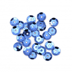Sequins round 7 mm blue -20 grams
