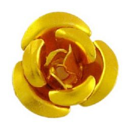 Yellow Aluminum Roses for gluing 10 x 6.5 mm
