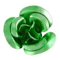 Green Aluminum Roses for gluing 10 x 6.5 mm