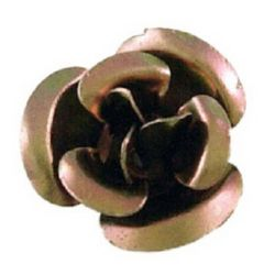 Brown Roses for gluing 10 x 6.5 mm