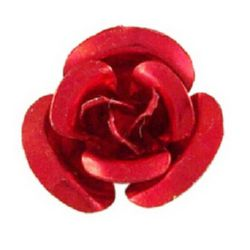 Red Roses for gluing 10 x 6.5 mm