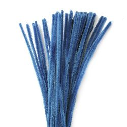 Blue Pipe Cleaners, DIY Crafts Decorating, Children -30 cm -10 pieces
