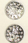 Sew On Metal Coin, DIY Clothes, Decorations 15 mm silver -50 pieces