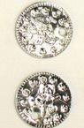 Monedă metalică 15 mm argintiu -50 piese