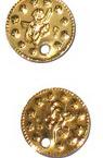 Monedă metalică auriu de 15 mm -50 piese
