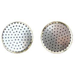 Μεταλλική βάση σουρωτήρι για κοσμήματα 35mm ασημί -10 τεμάχια