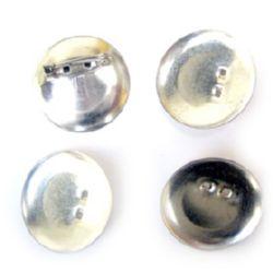 Основа за брошка метал с игла 30x6 мм цвят сребро -10 броя