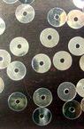 Πούλιες στρογγυλές επίπεδες 6,5 mm ασήμι -20 γραμμάρια