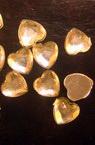 Акрилен камък за лепене сърце 6x6 мм бяло -50 броя