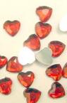 Acrilica pictara   pentru lipire inimii 6x6 mm rosu -50 bucati
