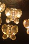 Акрилен камък за лепене пеперуда 15 мм бяла -50 броя