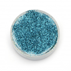 Glitter powder DIY Decoration 0.3 mm 250 micron blue -20 grams