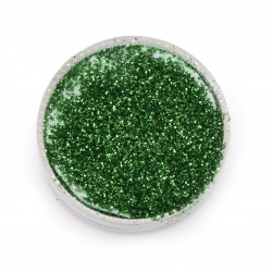 Glitter powder DIY Decoration 0.3 mm 250 micron green -20 grams
