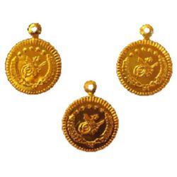 Паричка метал 24 мм злато с халка -50 броя