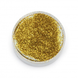 Glitter powder DIY Decoration 0.3 mm 250 microns gold -20 grams