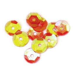 Sequins round 7 mm red -20 grams