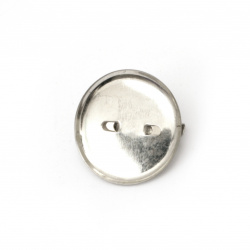 Baza pentru brosa metalica cu ac de 23 mm culoare argintiu -20 bucati