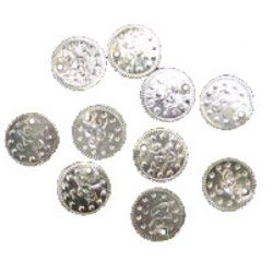 Metal Coin, DIY Clothes, Decorations, Jewelry 11 mm silver -50 pieces