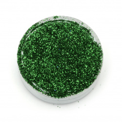 Glitter powder DIY Decoration 0.3 mm 250 micron green herbaceous-20 grams
