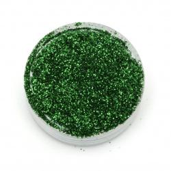 Pulbere brocart / sclipici 0,3 mm 250 microni verde ierboase-20 de grame