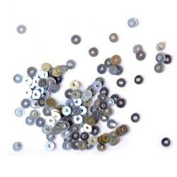 Paiete rotunde plate de 3 mm argintiu - 20 grame