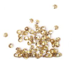 Loose Sequins Beads for Sewing, Dress Decoration, Wedding, Craft, Scrapbooking round 3 mm gold -20 grams