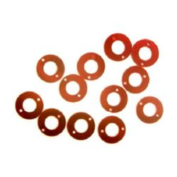 Sequins circle beads 12x6 mm red - 20 grams