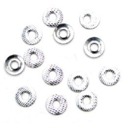 Adhesive element washer 8 mm relief silver -20 pieces