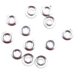 Lipicios element  saibă 8 mm argintiu -20 bucăți