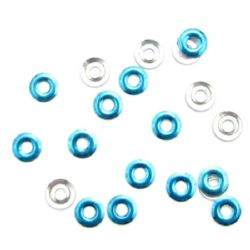 Adhesive element washer 8 mm blue -20 pieces