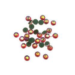 DIY Self-Adhesive Glass Rhinestone, Crystals, Decorations, Clothes, Craft 2.2 mm rainbow orange 2 grams ~ 210 pieces