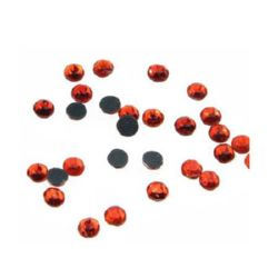 DIY Self-Adhesive Glass Rhinestone 3 mm orange 2 grams ± 90 pieces