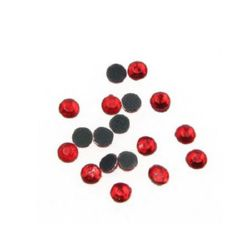 DIY Self-Adhesive Glass Rhinestone 3 mm red 2 grams ± 90 pieces