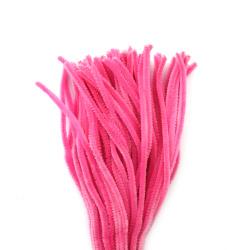 Tija de sârmă roz deschis -30 cm -10 bucăți