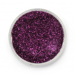 Glitter powder DIY Decoration 0.3 mm 250 microns purple/lavender - 20 grams