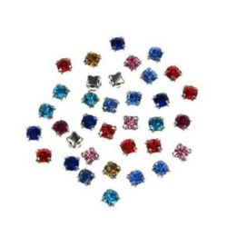 Crystals for sewing 3.4~3.5 x 3.4~3.5 mm - MIX