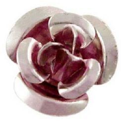 Violet Rose Decoration for gluing 10 x 6.5 mm Aluminium-50pieces