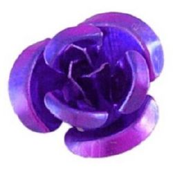 Indigo Rose Decoration for gluing 10 x 6.5 mm Metal-50pieces
