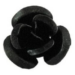 Trandafir metalic 10x6,5 mm negru-50 bucăți