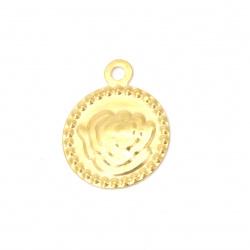 Moneda metalului a crescut de 15 mm aurie cu un inel -50 de piese