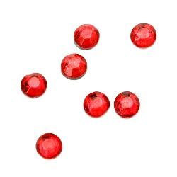 DIY Self Adhesive Glass Rhinestone 4 mm red 2 grams ~ 54 pieces