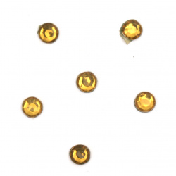DIY Self-Adhesive Glass Rhinestone 4 mm yellow 2 grams ~ 56 pieces