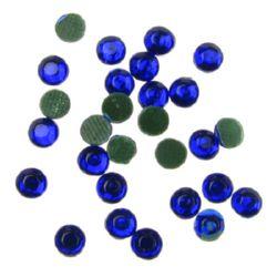 Piatra de sticlă cu lipici 3 mm albastru închis 2 grame ~ 90 bucăți