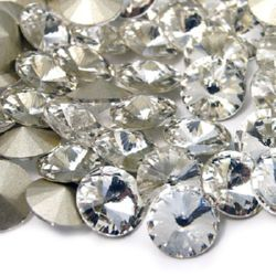 Acrylic Rhinestone, Hot-Fix Decoration, Clothes, DIY, Craft, Jewelry Making round 12 mm transparent -5 pieces