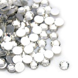 Decoration for gluing   circle 4 mm transparent -50 pieces